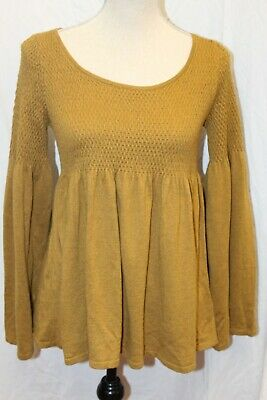 $ CDN25.46 • Buy NWT Anthropologie Knitted & Knotted Scoop Neck Sweater Knit Top Pullover M