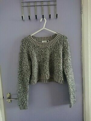 Grey Cropped Jumper New Look Loungewear Size 12 Or   • 2.50£
