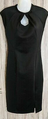 Oasis Black Bodycon Pencil Straight Stretch Dress Size 10 • 10.50£