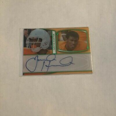 $15 • Buy F99635  2013 Press Pass Autographs Green Red Ink #JH Justin Hunter 2/5