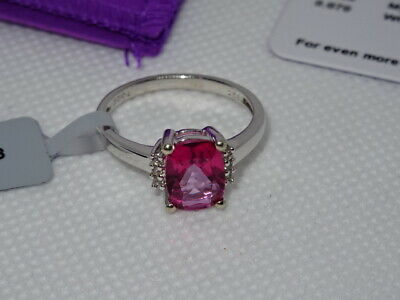 #169 Gemporia Sterling Silver Mystic Pink & White Topaz Ring & COA Size Q • 34.95£