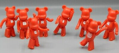 $85 • Buy 2002 Medicom Toy BE@RBRICK Series 3 Bearbrick LOT Letters BASIC Red Bear Figure