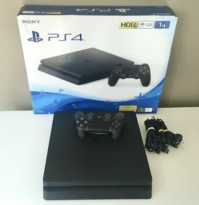AU359 • Buy Playstation 4 PS4 Slim Console 1 TB + 2 Free Games & 2 DVD MOVIE EXPRESS POST