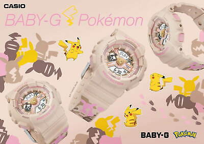 $349.99 • Buy CASIO BABY-G X POKEMON Pikachu Watch Pink Camouflage Special Collaboration Model