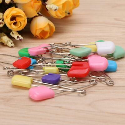 20Pcs Baby Infant Child Cloth Nappy Diaper Pins Safety Locking Holder Colorful • 2.16£