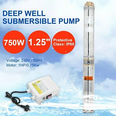 AU239 • Buy 1HP Submersible Bore Water Pump Deep Well Irrigation Stainless Steel 240V 750W