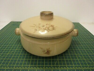 Vintage 1970s  Denby - Memories Large 5 Pint CASSEROLE DISH With Lid • 12.99£