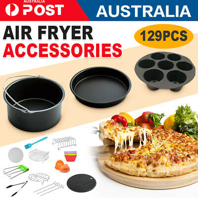 AU28 • Buy 6/129x 7/ 8  Air Fryer Accessories Rack Cake Pizza Oven Barbecue Frying Pan Tray