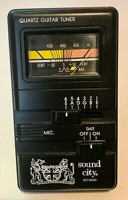 Sound City Sct-600 Guitar Tuner + New Battery - EXCELLENT CONDITION • 7.50£