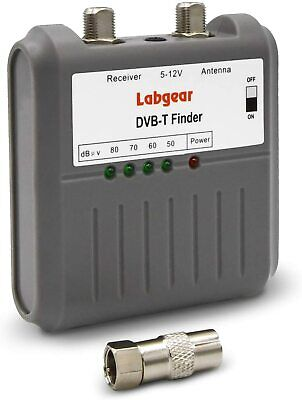 Labgear 27866R DVB T Signal Strength Finder Freeview HD TV Aerial Meter Tester ! • 13.48£