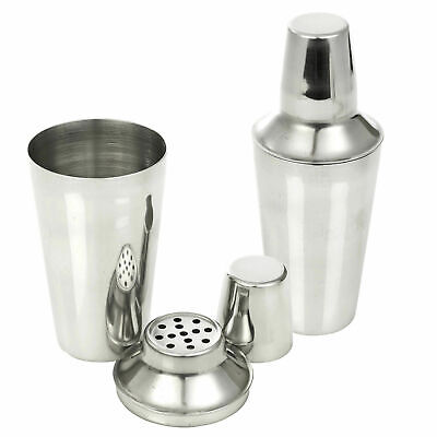 Stainless Steel Cocktail Shaker Mixer Drink Pub Alcohol Party Martini Bar Mojito • 5.80£