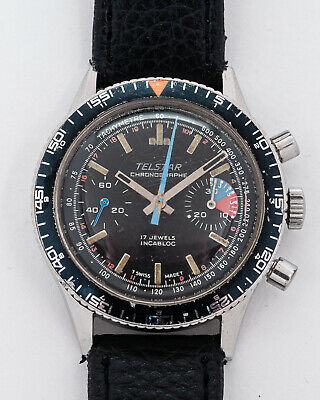 $ CDN337 • Buy Vintage Telestar Submarine Chronograph Valjoux 7733 Movement For Restoration