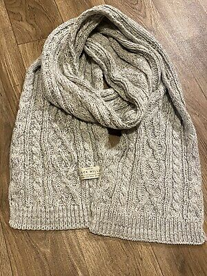 £6 • Buy Womans Jack Willis Scarf Light Grey Woollen Cable Knit Style