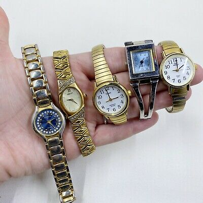 $ CDN15.15 • Buy LOT OF 5 VINTAGE Ladies WRISTWATCH - Seiko, Times, Guess Watch Parts