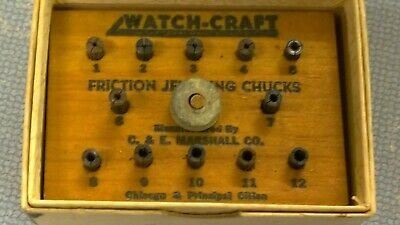 $ CDN1.25 • Buy Vintage Watchmakers Friction Jeweling Chucks Set Watch-Craft - Bench Repair Tool