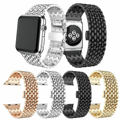 $ CDN16.73 • Buy Fashion Stainless Steel Band Strap Bracelet For Apple Watch Series SE 6 5 4 3 21