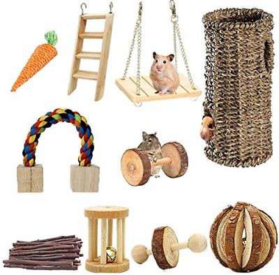Ewolee Hamster Hanging Toy, Hanging Cage Toy Set With Wooden Ladder, Bridge, And • 28.02£