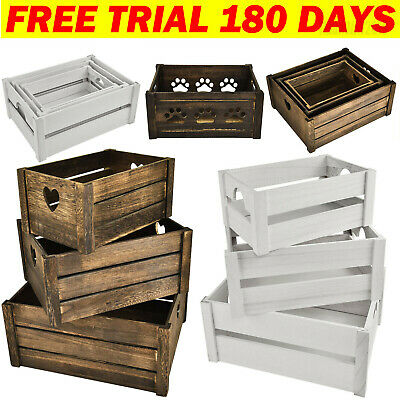 Superb Wooden Apple Crate Retail Display Shelf Box Storage Christmas Gift Hamper • 15.60£