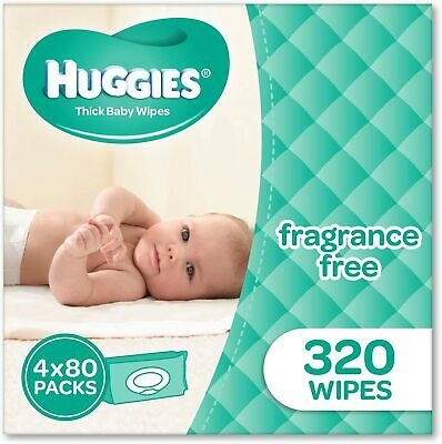 AU19.99 • Buy HUGGIES Fragrance Free Baby Wipes Alcohol Free, 320  Wipes Refill Pack
