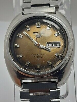 $ CDN64.41 • Buy Seiko 5 Day Date Automatic Movement Cal 6119c-8400 Japan Men's Rare Wrist Watch