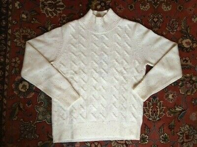 N Peal BRAND NEW With Gift Wrapping 100% CASHMERE SPARKLY White Jumper  • 280£