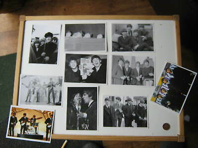 10 X THE BEATLES POSTCARDS: GROUP, SOLO, CROWD: LENNON,McCARTNEY,STARR,HARRISON. • 4.99£