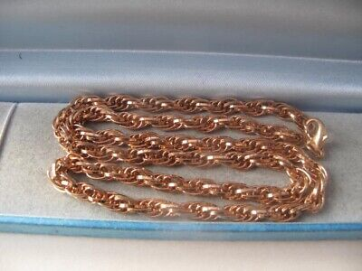 New 9ct ROSE GOLD Plated ROPE NECKLACE 22 Inch Long 6mm Chain Jewellery - 32.6g@ • 1.77£