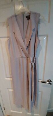 BNWT Sleeveless Wrap Over Silver  Jumpsuit Size 14   Xmas Gift • 2.50£