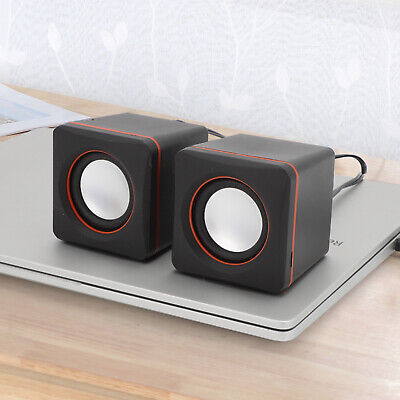 PC With USB Power Supply Clear Sound Quality Portable Computer  Laptop Speakers • 6.19£