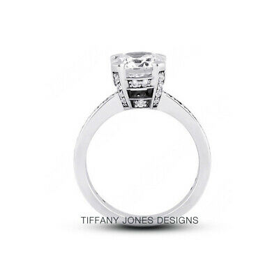 AU4288.81 • Buy 1.65 CT F-SI2 Round Cut Natural Certified Diamonds 950 PL. Side-Stone Ring