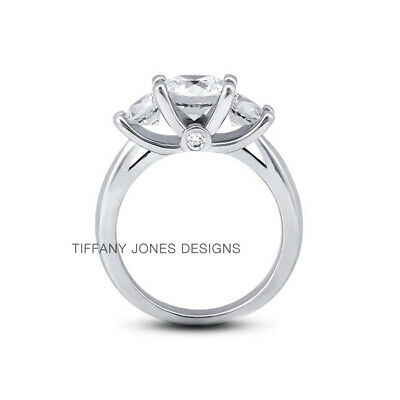 AU4244.44 • Buy 1 1/4ct G SI1 Round Natural Certified Diamonds 950 PL. Classic Three-Stone Ring