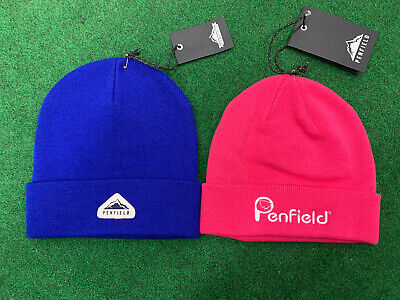 New Ladies Penfield Beanie X 2 - 1 X Raspberry And 1 X Blue - One Size Fits All • 30£