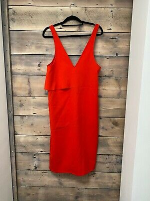 Topshop Boutique Bright Red Dress - UK 10 • 30£