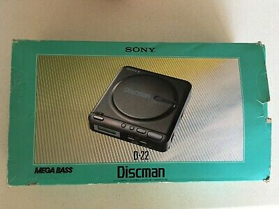 Sony Discman Personal CD Player D-22 Still Boxed And In Good Working Order • 24£