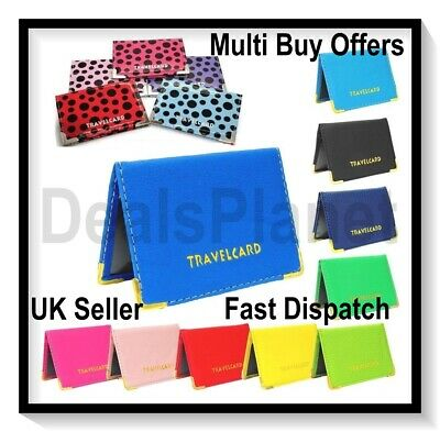 £2.29 • Buy Oyster Card Travel Card Bus Pass Holder Wallet Railcard Cover Case Plain Polka