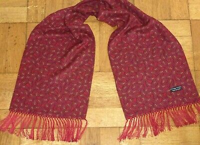 Vintage TOOTAL Scarf Paisley Dapper Mod Scooter Indie Goodwood Ascot Races  • 29.99£