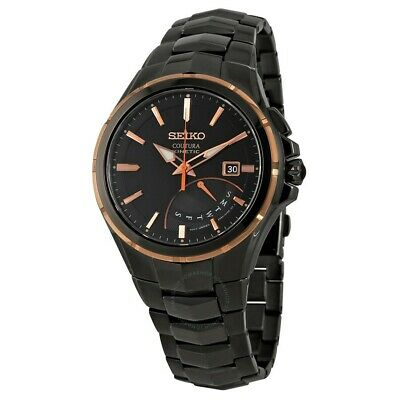 $ CDN254.34 • Buy Seiko Automatic Coutura Kinetic Retrograde Black Ion-Plated Men's Watch #SRN066