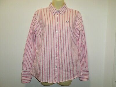 Crew Clothing Classic Fit Cotton Pink Striped Shirt Size 12 • 8.99£