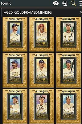$ CDN89.02 • Buy Topps Bunt [Lots X12] Allen & Ginter Gold Framed Mini Signature Iconic Digital*
