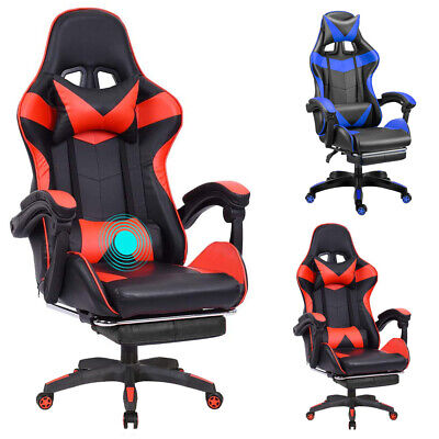 Gaming Chair Office Racing Style Leather Computer Swivel Desk Massage Seat Chair • 99.99£