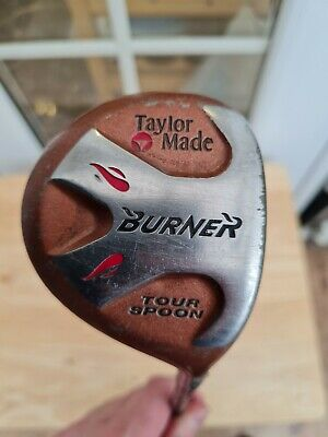 TaylorMade BURNER S-90 Plus Stiff Shaft, Bubble, Graphite Golf Club, Tour Spoon • 15£