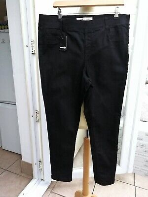 Ladies Simply Be Amber Black Skinny Jeggings Size 18 L28 NWT  • 3.70£