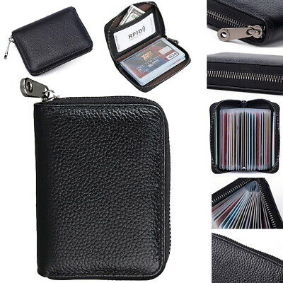 £7.09 • Buy RFID Blocking Mini Leather 22 Card Wallet Business Case Purse Credit Card Holder