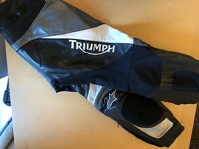 Alpine Star Leather Trousers Triumph Branded In Great Condition • 85£