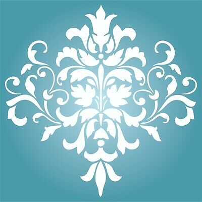 £16.73 • Buy Damask Stencil Reusable Large Floral Allover Pattern Wall Stencil Template