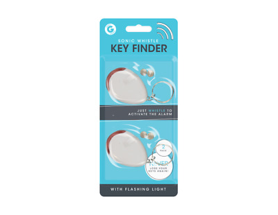 Whistle Lost Key Finder Flashing Beeping Locator Remote Chain LED Sonic Torch 2P • 2.75£