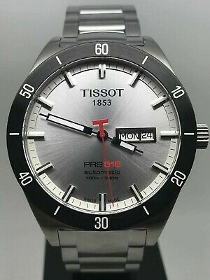 Tissot PRS 516 T044.430.21.031.00 Grey Dial Steel Strap Men's Automatic WATCH • 169.99£