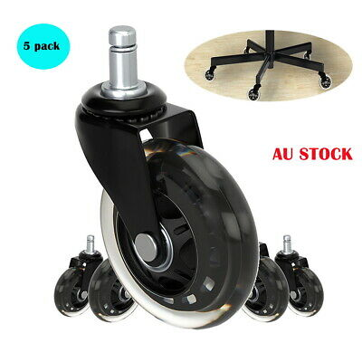 AU32.99 • Buy 5pcs Rollerblade Office Desk Chair Wheels Replacement Rolling Caster Grip Ring L