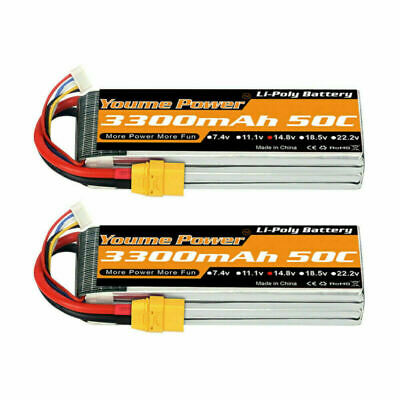 AU81.30 • Buy 2pcs 14.8V 4S 3300mAh LiPo Battery XT90 For RC Car Helicopter Airplane Quad Boat