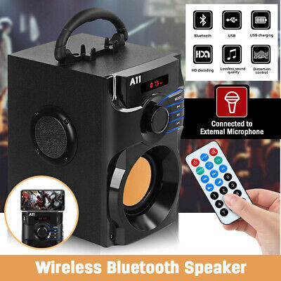 £29.99 • Buy Portable Bluetooth Wireless Speaker Outdoor Subwoofer Heavy Bass FM With Remote